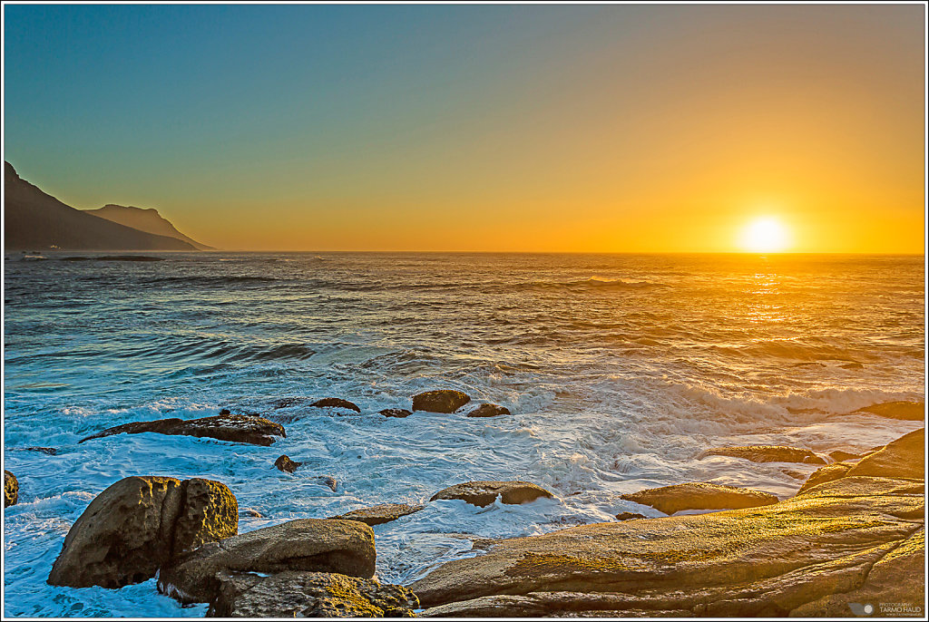 Sunset at Cape Town beach