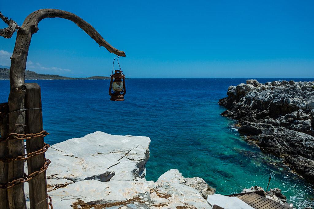 Kayaking in Crete, Greece.