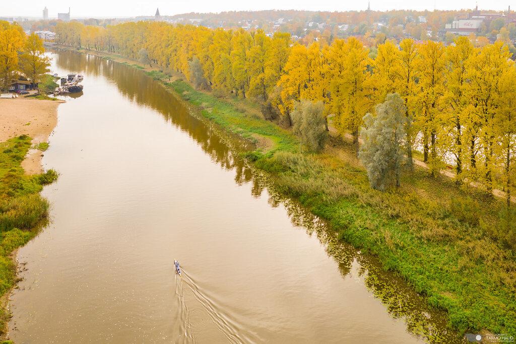 River Emajõgi and a lone paddler